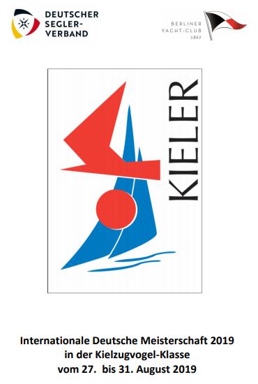 Internationale Deutsche Meisterschaft 2019 in der Kielzugvogel-Klasse vom 27. bis 31. August 2019