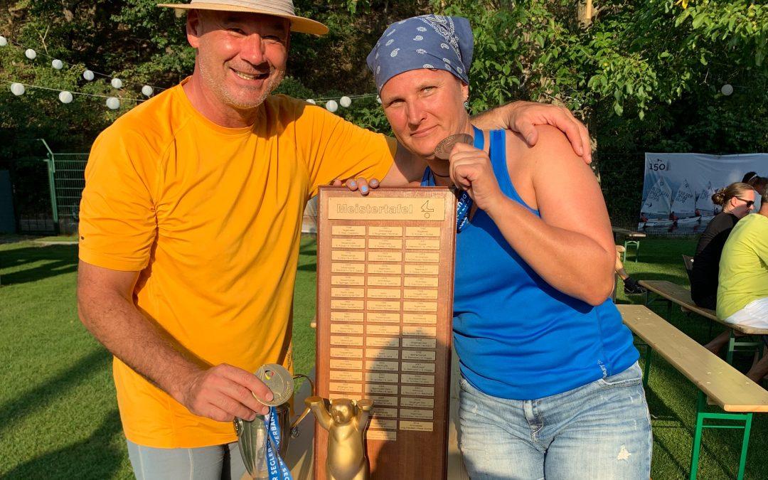 Tanja Seegelke und Alex Morgenstern verteidigen ihren IDM Titel erfolgreich